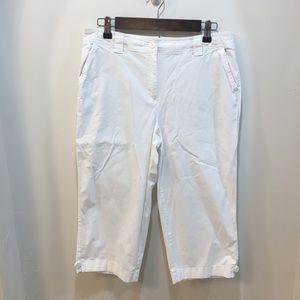 Talbots White Capri Pants